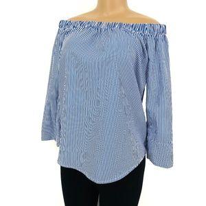 4 for $25 SALE!!!! Striped Off Shoulder Shirt